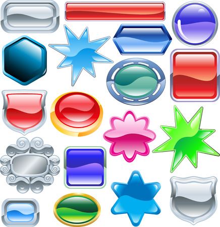 Background colourful web design elements ready for you to add messages or icons. No blends or meshes used  Vector