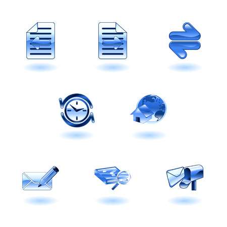 A set of shiny internet browser icons Stock Vector - 4814152