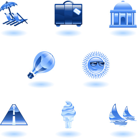 A travel and tourism web icon set Stock Vector - 4814150