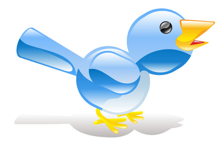 ing: A tweet ing twitter ing blue bird icon or symbol
