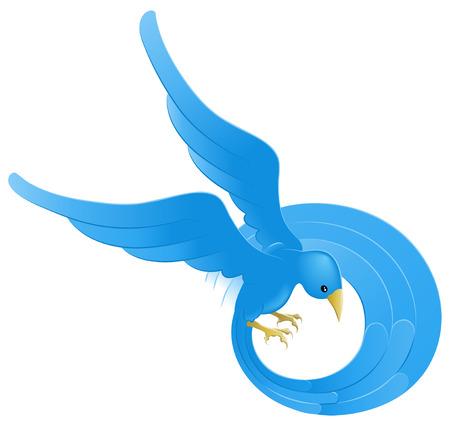 tweet: A tweet ing twitter ing blue bird icon or symbol