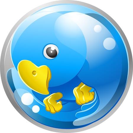 tweet icon: Un Tweet Ing. twitter Ing. icono p�jaro azul o s�mbolo ilustraci�n