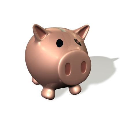 oink: 3d rendered illustration of a cute cartoon piggybank