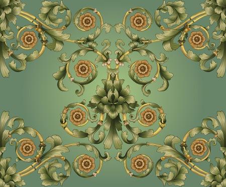 motive: Retro nahtlose Druckseiten floralen Hintergrundbild Muster erinnert an floralen viktorianischen Designs, die griechischen und r�mischen Ornament inspiriert. Entwickelt, um seine besten wenn nebeneinander betrachten.