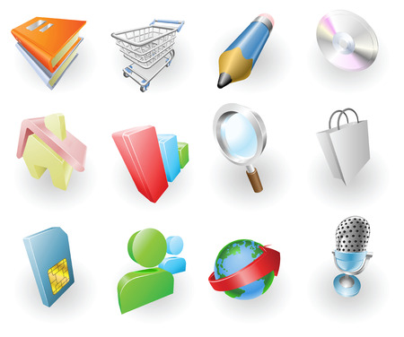A set of silver steel or aluminium shiny glossy metal metallic internet application icon set series. Vector