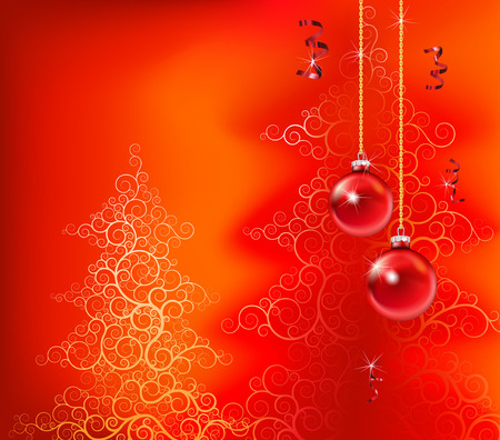 beautiful christmas inspired design in red Vector