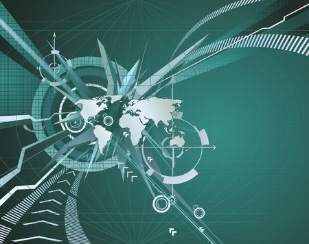 back round: An abstract corporate business background symbolising the concept of global business, communications and travel or people or information. Illustration