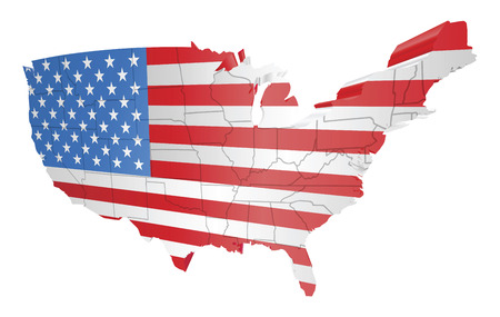 illustration of the american flag as the map of the USA Vector