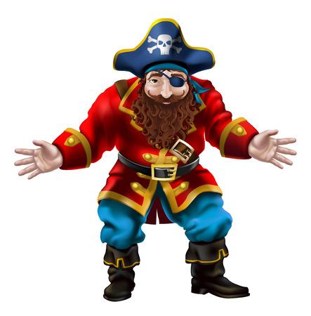 capitano: Illustrazione di un carattere pirata