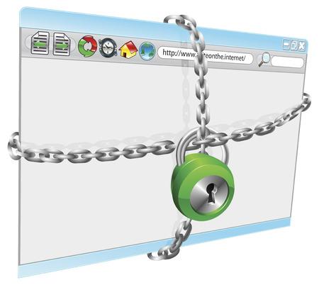 http: Eine konzeptionelle Illustration der Internet-Sicherheit