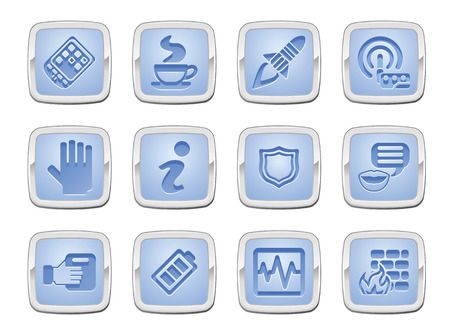 illustration of a set of internet computer application icons Stock Vector - 8418195