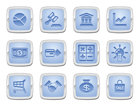 illustration of a set of business and finance internet icons Vector