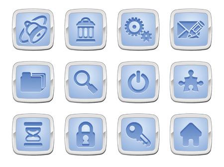 icone maison: Illustration d'une ic�ne ensemble s�rie Internet