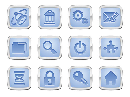 illustration of an internet icon set series Stock Vector - 8484542