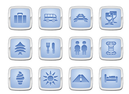 illustration of a travel icon set series Stock Vector - 8484541
