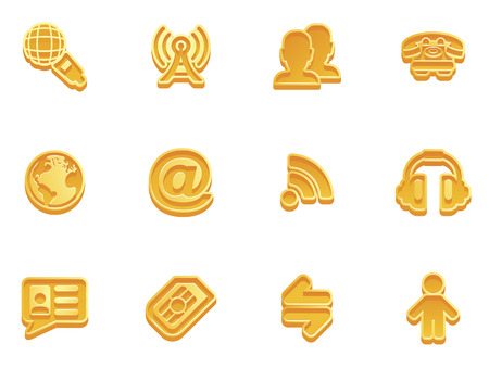 illustration of a communication icon set series  Vector