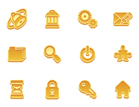 illustration of an internet icon set series Stock Vector - 8600704