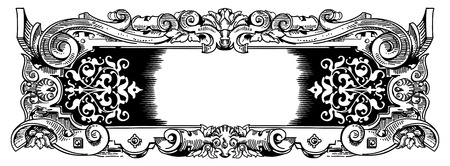 Vintage frame inspired by rococo or baroque style design Vector