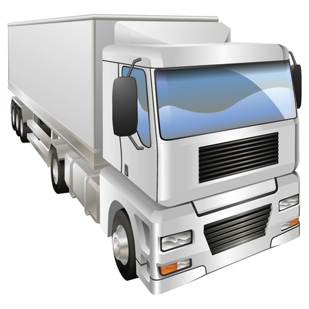 An illustration of a haulage truck or lorry Vector