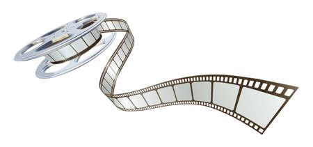 rollo pelicula: Cola de pel�cula pel�cula de bobina. S�mbolo para el cine.