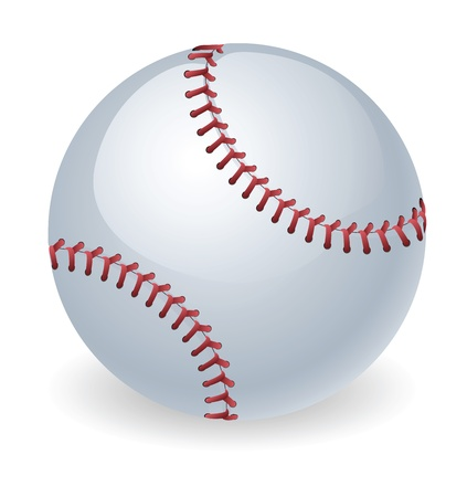 hardball: An illustration of a shiny baseball ball