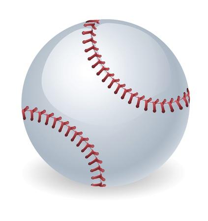 pelota beisbol: Una ilustraci�n de una pelota de b�isbol brillante