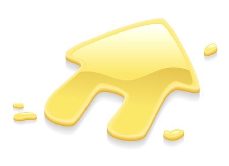 apalancamiento: Ilustración de un signo de símbolo de la casa de metal oro líquido