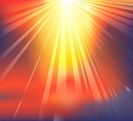 천국: 구름을 통해 하늘의 빛 차단을 특징으로 배경 일러스트