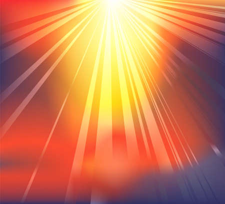 light beams: Background featuring heavenly light breaking through the clouds Illustration