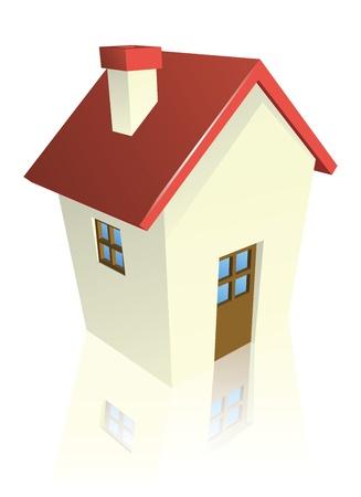 housing development: Illustration of a stylised cottage or house Illustration