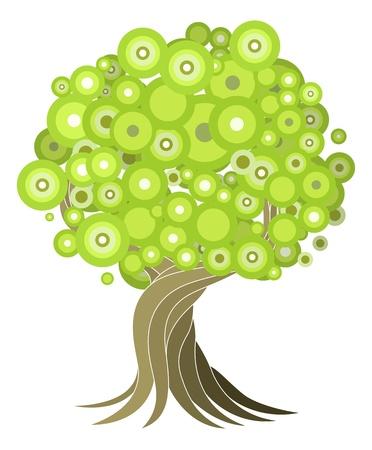 An abstract stylised tree illustration design element. Illustration