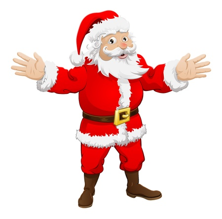 An illustration of a happy Christmas Santa Claus Vector