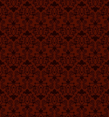 A seamless tiling antique Victorian style background pattern Vector