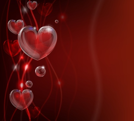 An abstract valentines day heart background illustration. Vector