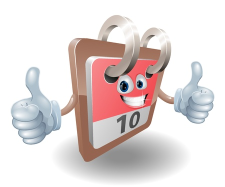 A cute desk calendar person giving a double thumbs up and smiling Stock Vector - 13198143