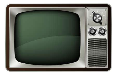 복고 스타일의 구식 텔레비전의 그림 일러스트