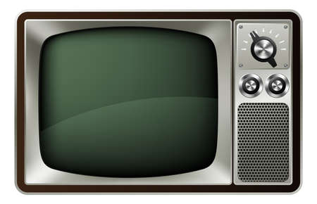 clipart speaker: Illustration of a retro style old fashioned television Illustration