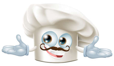 Illustration of a cute chef hat mascot Vector