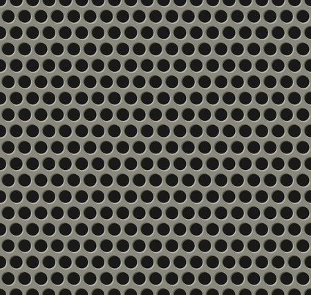 Illustration of perfectly seamlessly tiling metal grill pattern Vector