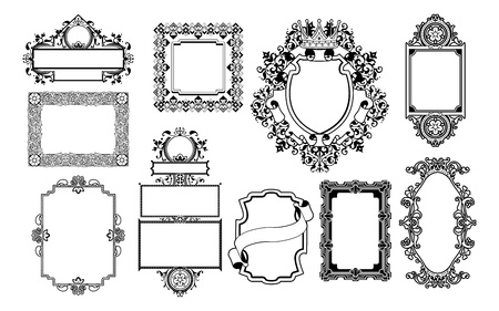 A set of decorative frame graphic design elements Vector