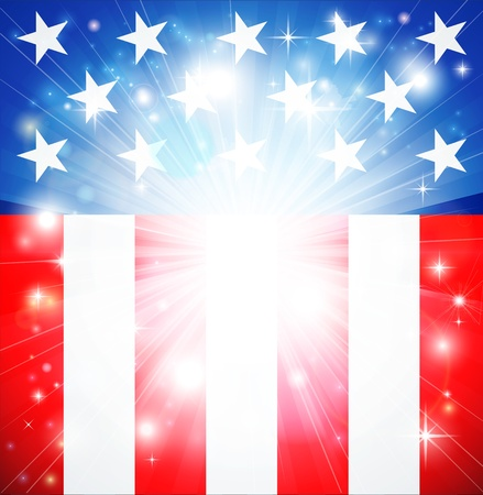 enlist: American flag patriotic background with stars and stripes and space for text in the center Illustration