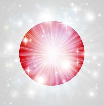 hinomaru: Flag of Japan background with pyrotechnic or light burst and copy space in the centre Illustration