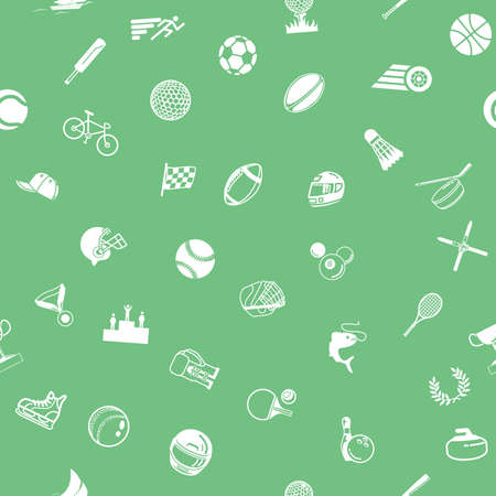 back ground: A repeating seamless sport background tile texture with lots of drawings of different sports icons