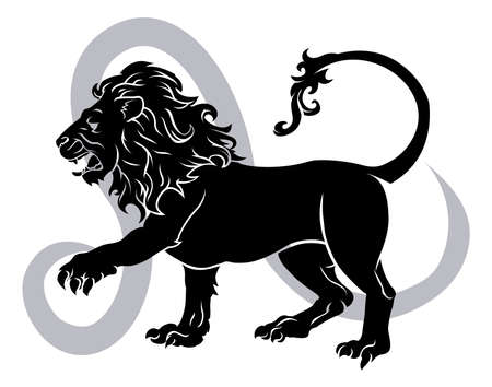 Leo the lion zodiac horoscope astrology sign Stock Vector - 17819174