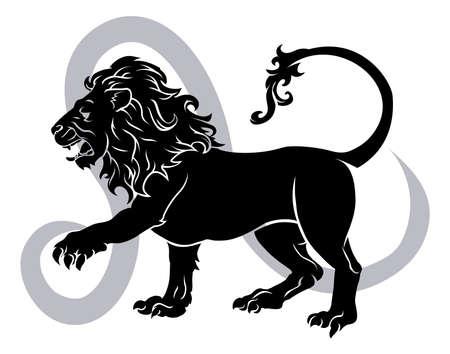 Leo the lion zodiac horoscope astrology sign Stock Vector - 17819174