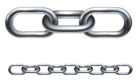 cadenas: Eslabones de la cadena de metal. En la versi�n de vector de la ilustraci�n est� dispuesto en capas para que sea m�s f�cil de extender a la longitud deseada.