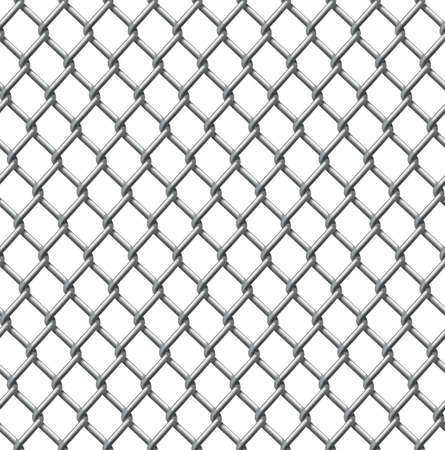 An illustration of a seamlessly tillable chain link fence pattern Vector