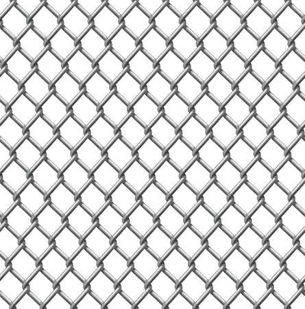 malla metalica: Un ejemplo de un patrón de cerca de alambre perfectamente cultivable Vectores