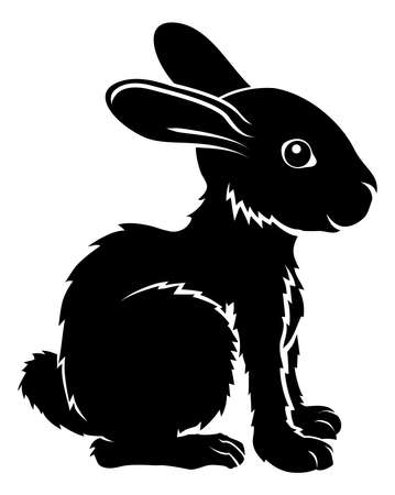An illustration of a stylised rabbit perhaps a rabbit tattoo Stock Vector - 20018560