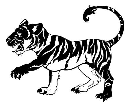 An illustration of a stylised tiger perhaps a tiger tattoo Stock Vector - 20018567